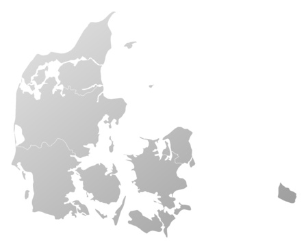 tone shading: Map of Denmark, filled with a linear gradient. Illustration