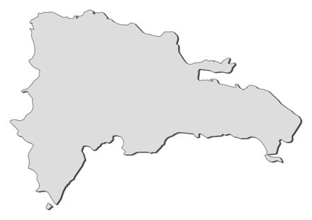 middle america: Map of Dominican Republic, filled in gray.