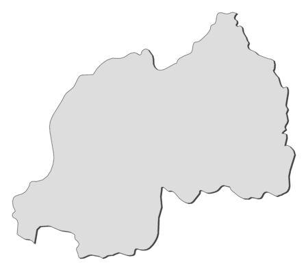 rwanda: Map of Rwanda, filled in gray.