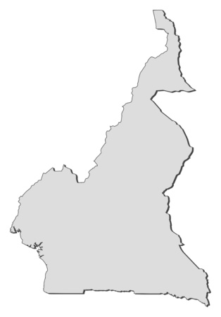 cameroon: Map of Cameroon, filled in gray.