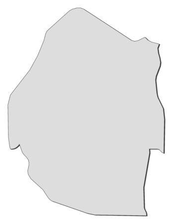 swaziland: Map of Swaziland, filled in gray. Illustration
