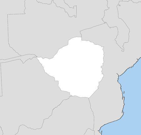 Map of zimbabwe and nearby countries zimbabwe is highlighted map of zimbabwe and nearby countries zimbabwe is highlighted in white stock vector gumiabroncs Gallery