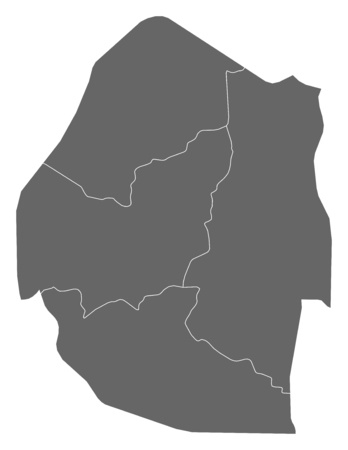 swaziland: Map of Swaziland as a dark area.