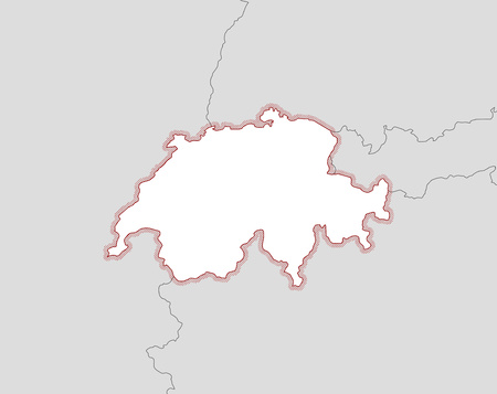 schweiz: Map of Swizerland and nearby countries, Swizerland is highlighted by a hatching.