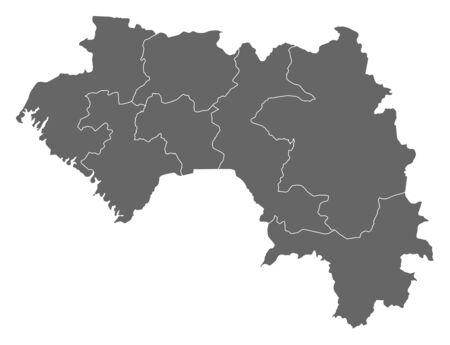 area: Map of Guinea as a dark area.