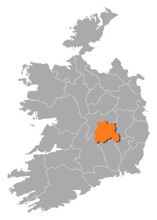 orange county: Map of Ireland with the provinces, Laois is highlighted by orange.