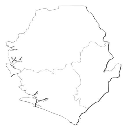 sierra: Map of Sierra Leone, contous as a black line.