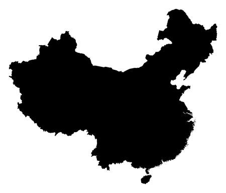 prc: Map of China in black, Hong Kong is highlighted in red.