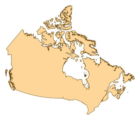 Map of Canada with the provinces. Illustration