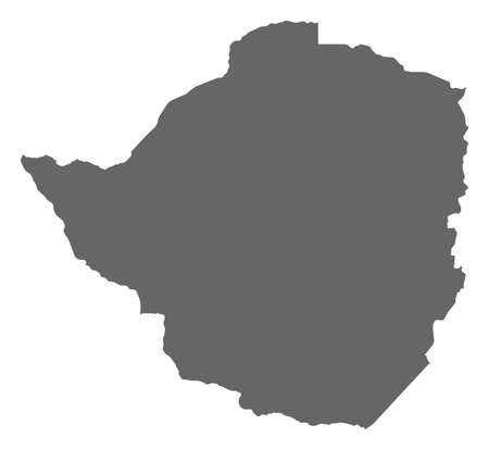 zimbabwe: Mapa de Zimbabwe como una zona oscura.