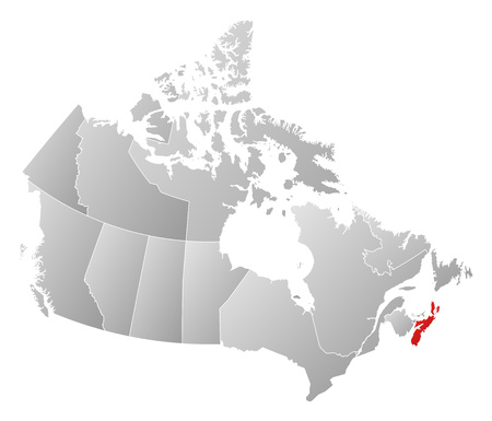 nova: Map of Canada with the provinces, filled with a linear gradient, Nova Scotia is highlighted.