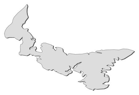 edward: Map of Prince Edward Island, a province of Canada.