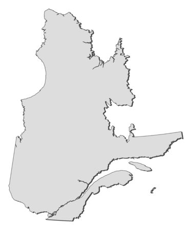 qc: Map of Quebec, a province of Canada.