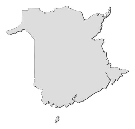 shady: Map of New Brunswick, a province of Canada.