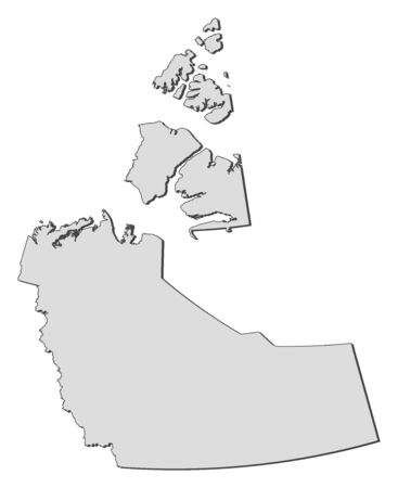 territories: Map of Northwest Territories, a province of Canada.