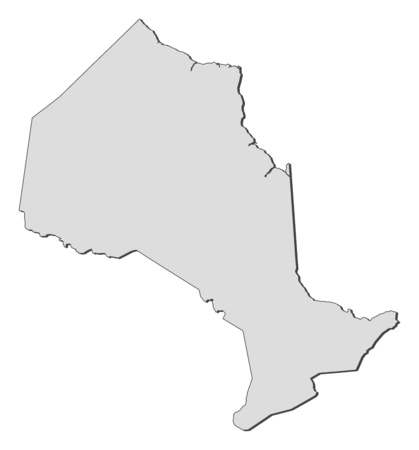 Map of Ontario, a province of Canada.