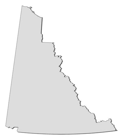 yukon: Map of Yukon, a province of Canada. Illustration