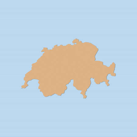 swizerland: Map of Swizerland in brown on a blue background.