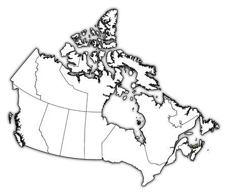 edward: Map of Canada with the provinces, Prince Edward Island is highlighted in yellow.