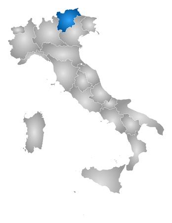 Map Of TrentinoAlto AdigeSdtirol A Province Of Italy Royalty