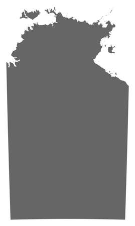 Map of Northern Treeitory, a province of Australia.