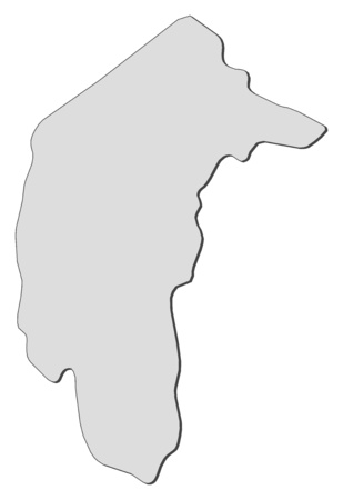 Map of Capital Territory, a province of Australia. Illustration