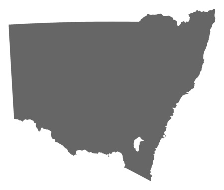 Map of New South Wales, a province of Australia.