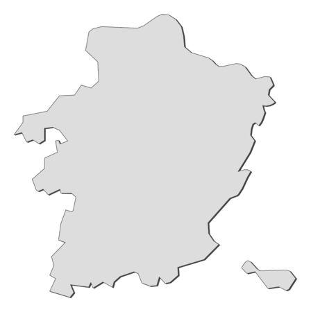 limburg: Map of Limburg, a province of Belgium.
