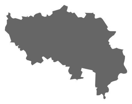 Map of Liege, a province of Belgium.