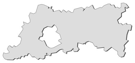 Map of Flemish Brabant, a province of Belgium.
