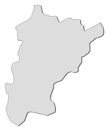 Map of Uri, a province of Swizerland.