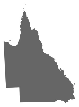queensland: Map of Queensland, a province of Australia. Illustration