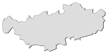 walloon: Map of Walloon Brabant, a province of Belgium.