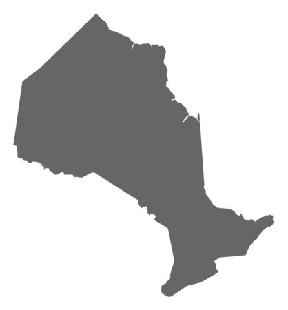 province: Map of Ontario, a province of Canada.