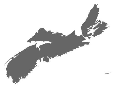 nova: Map of Nova Scotia, a province of Canada.