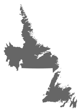 newfoundland: Map of Newfoundland and Labrador, a province of Canada.