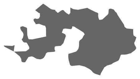 schweiz: Map of Basel-Landschaft, a province of Swizerland.