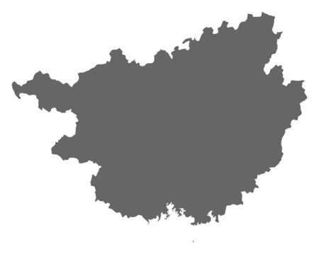prc: Map of Guangxi, a province of China.