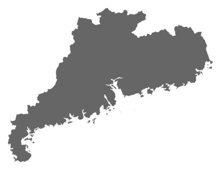 prc: Map of Guangdong, a province of China.