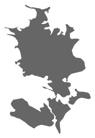 danmark: Map of Zealand, a province of Danmark.