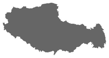 tibet: Map of Tibet, a province of China.
