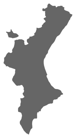 valencian: Map of Valencian Community, a province of Spain.