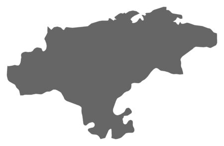 Map of Cantabria, a province of Spain.