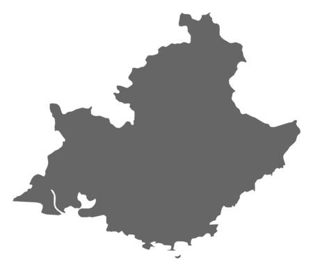 Carte de Provence-Alpes-C? Te d'Azur, une province de France.