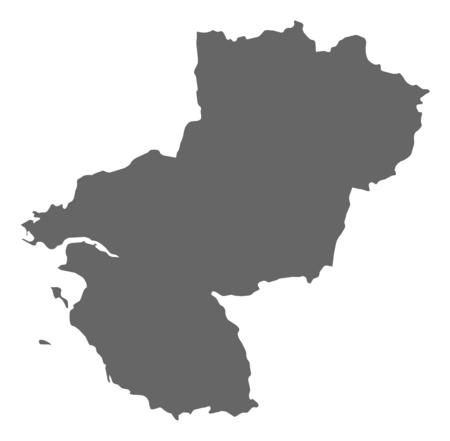 Map of Pays de la Loire, a province of France.