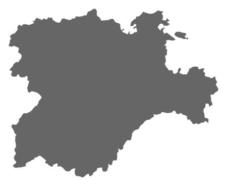 leon: Map of Castile and Leon, a province of Spain.