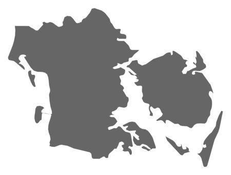danmark: Map of South Denmark, a province of Danmark.