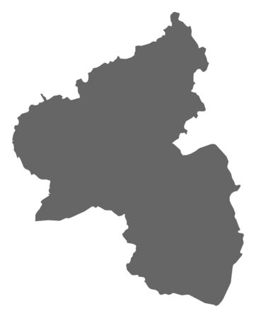 Map of Rhineland-Palatinate, a province of Germany. Çizim