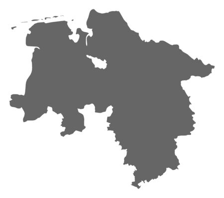 lower: Map of Lower Saxony, a province of Germany.
