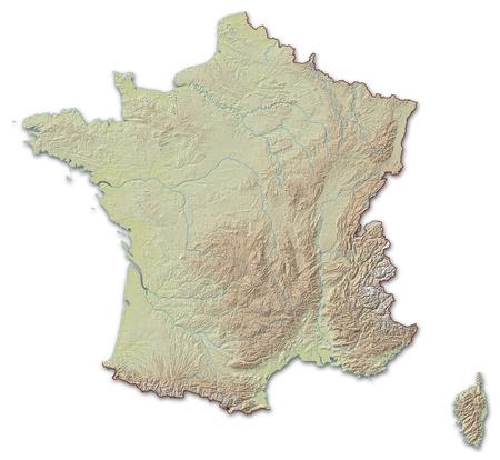 Programma di rilievo della Francia, i paesi vicini sono implicite.